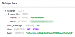 Git Commit Log Record
