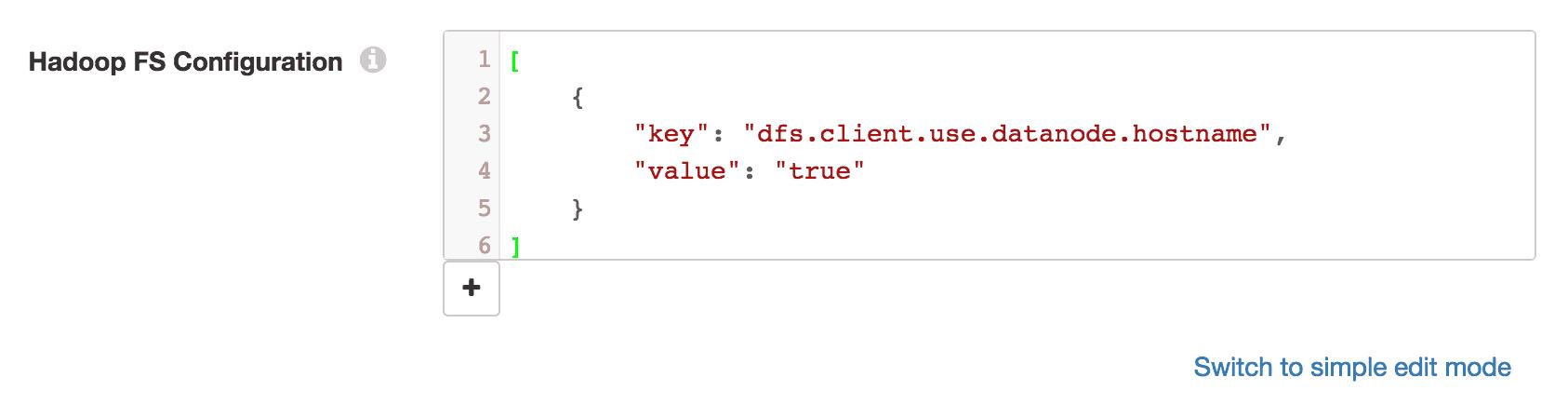 Hadoop FS Configuration