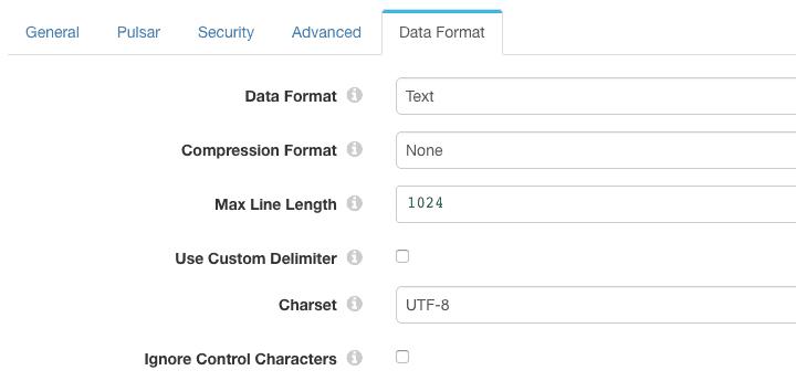 Pulsar Consumer data format