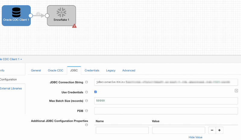 Snowflake Oracle JDBC Config