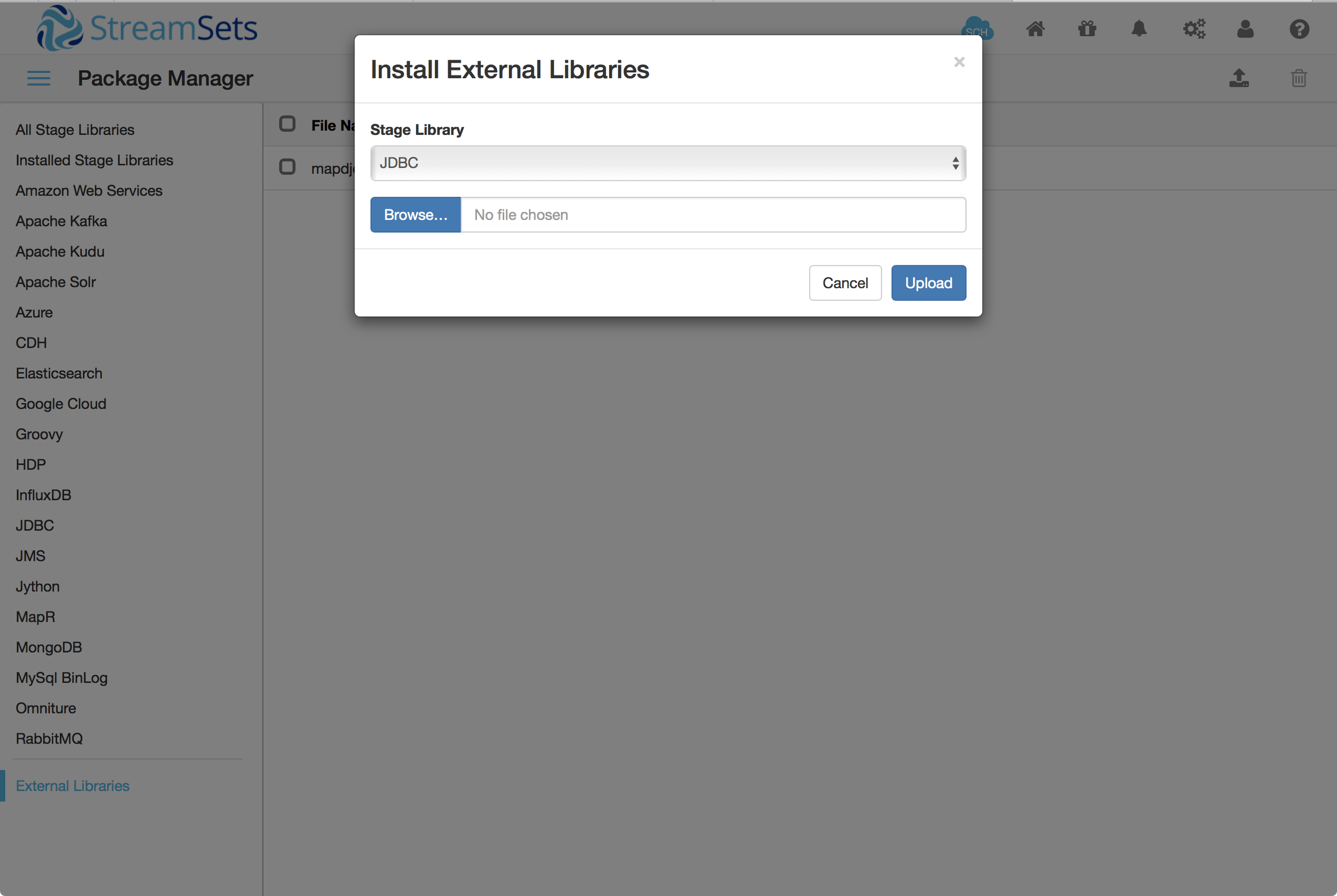 Install MapD JDBC driver