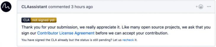 GitHub Contributor License Agreement (CLA)
