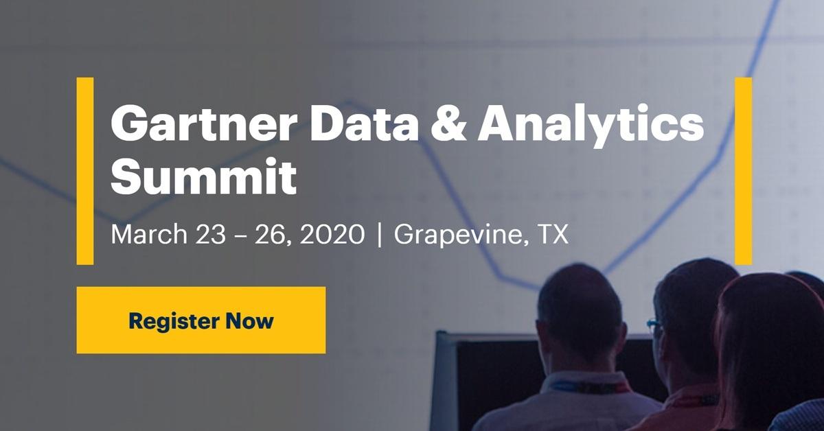 Event - Gartner Data and Analytics Summit 2020 in Grapevine,TX